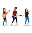 musical band playing instruments vector image