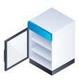 open freezer icon isometric style vector image
