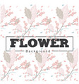 pink flower pattern background image vector image