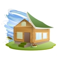 Property insurance Hurricane destroyed house vector image vector image