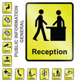 public information signs vector image
