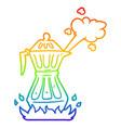 rainbow gradient line drawing cartoon steaming vector image vector image