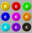 RSS feed icon sign symbol on nine round colourful vector image vector image