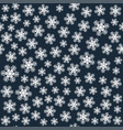 seamless art pattern with snowflakes on dark blue vector image vector image