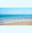 seashore blurred background defocused vector image vector image