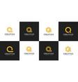 set initial letter q logo design vector image vector image