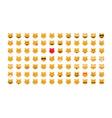 Set of Emoticon cat vector image vector image