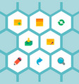 set of task manager icons flat style symbols with vector image