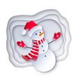 snowman wearing santa hat vector image vector image