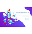 space exploration - modern colorful isometric web vector image vector image