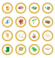 spring icon circle vector image vector image