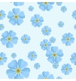 summer seamless pattern with blue forget-me-nots vector image vector image