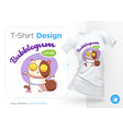 sweet-tooth cat print on t-shirts sweatshirts vector image vector image