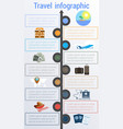 travel infographic template 9 positions vector image