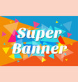 trendy flat geometric banner vector image vector image