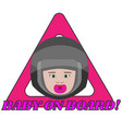 triangle warning sign for vehicle safety vector image vector image