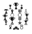 trophy icons set siple style vector image