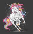 unicorn run fullcolour vector image vector image