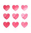 valentine heart set cute heart symbol vector image