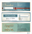 Voucher template set vector image vector image