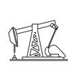 petroleum extraction machine vector image
