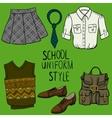 School uniform set vector image