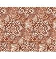 Indian henna tattoo style seamless pattern vector image