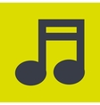 music note icon design vector image