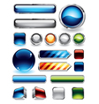 glossy buttons set vector image