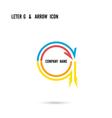 Creative letter G icon logo design vector image