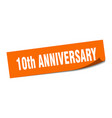 10th anniversary sticker anniversary square
