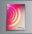 abstract design poster with circular shapes and vector image vector image