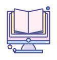 back to school education ebook computer vector image