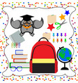 back to school flat design modern vector image vector image