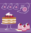 background desserts vector image vector image