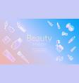 beauty secrets commercial promo banner design vector image