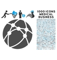 Browser Icon with 1000 Medical Business Symbols vector image vector image