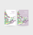 business brochure cover template vector image vector image