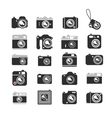 Cameras icons set vector image vector image