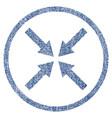 center arrows fabric textured icon vector image vector image