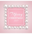 Christmas pearl frame fashion pearls vector image vector image