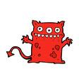 comic cartoon little monster vector image