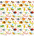 cute cartoon seamless pattern with insects and vector image vector image