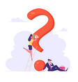 doubts and confusion concept thoughtful vector image vector image
