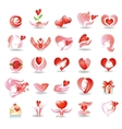 Emblems on love vector image vector image
