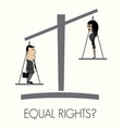 equal rights pitanje1 resize vector image