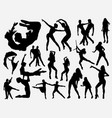 extreme dance silhouette vector image vector image