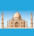 famous place - taj mahal vector image