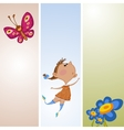 Frame with flower and butterfly vector image vector image