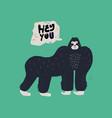 gorilla hand drawn vector image